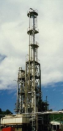 高沸点有機成分の排水処理装置(蒸留法)